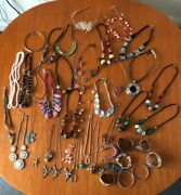 Beautiful Costume Jewellery Mixture - Necklaces Beads Bangles Rings
