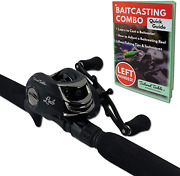 Tailored Tackle Left Handed Bass Fishing Rod Reel Baitcasting Combo 7 Ft 2 | | 7