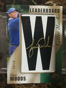 2021 Sp Game Used Tiger Woods Auto Lettermark W /10 Sick Best Letter Golf