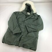 Extreme Cold Weather Parka N3-b Usgi Military Small Insulated Jacket Hood Defect