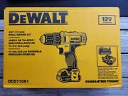 Dewalt Model Dcd710s1 12v Max 3/8 Drill/driver Kit With Battery And Charger New