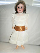 Antique Simon And Halbig 550 Doll Bisque Socket With Original Wig Signed Body