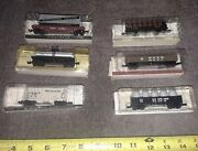 6 Southern Pacific N Scale Trains Tank,hopper,coal,log,piggyback Canister Cars