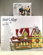 Dept 56 Lot Of 2 Coffee Station + Coffee Station Catch Up Snow Village D56 New