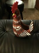 """Vintage Hand Made Pottery Chicken Planter Hand Painted 10.5"""" X 7"""" X 5.5"""""""