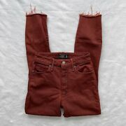 Abercrombie And Fitch Simone High Rise Ankle Womens Jeans Red Size 00