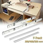 T-track Silver Miter Track Chute Stopper Hand Table Sliding Gauge Fence Rail