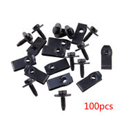 100pcs Car Body Bolts U Nut Clips M6 Hex 10mm Fit For Ford Truck 147163194 New