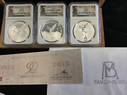 2015 Mexico Silver Libertad Ngc Pf70 Ms 70 And Pl70 Bu Proof Reverse 3 Coin Set