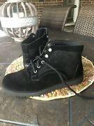 Uggs Black Suede Ankle Boot Worn Once Size 7