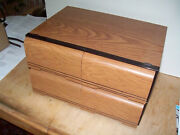2 Vintage Vhs Tape Storage Cabinets 36 Tape Capacity Faux Wood Grain In Vguc
