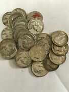 Us Franklin And Kennedy Silver Half Dollars Circulated 30 Pieces