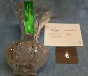 Waterford Lead Crystal 11th Anniversary Handcrafted Diamond Wedge Cut 12 Vase