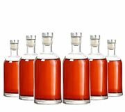 Kaachli Glass Bottle Pack Of 6 Clear Bottle 12 Oz With Cork Stopper For Wine ...