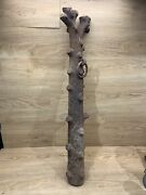 Antique Cast Iron Hitching Post Tree Antique Victorian Horse Equestrian