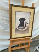 Black Lab Puppy With Decoy Duck Lot1005