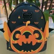 Loungefly Disney Pumpkin Stitch Mini Backpack Exclusive In Hand Nwt