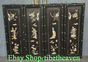 36 Large Old China Huanghuali Wood Shell Palace Flower Belle Flower Screen Set