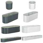 Garden Raised Bed Galvanised Steel Planter Flower Box Containers Pot Multi Size
