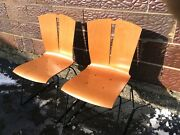 50 Vtg Falcon Co Charlotte Collection Midcentury Bent Plywood Chairs Very Good