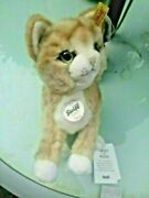 Rare Limited Edition Steiff Steiff Teddy Bear Cat Mizzy Ginger White Cat Butto