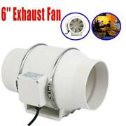 6 Inline Duct Fan Hydroponic Ventilation Extractor Vent Exhaust Air 110v 75w