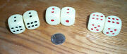 Vintage Lot Plastic Gumball Toys 3 Pair Of Dice Vending Machine Charms