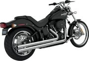 Big Shots Long Chrome Full Exhaust Vance And Hines 17923 86-11 Harley Softail