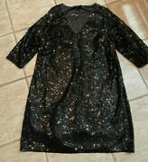 Torrid Special Occasion Solid Black Sequin Party Wedding Dress Size 2x 18-20 Nwt