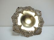 Victorian Silver Plate Pedestal Dish Compote Calling Card Receiver Holder