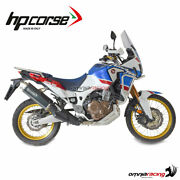 Hpcorse 4track R Exhaust Black Satin Homologated Honda Crf1000l Africa Twin 16