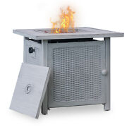 """Trustmade 28"""" Slat Top Gas Fire Pit Table"""