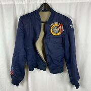 Vietnam War Us Air Force Academy Patched Warmup Jacket Fightinandrsquo Fourth