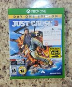 Just Cause 3 Day One Edition Microsoft Xbox One, 2015 Complete In Box