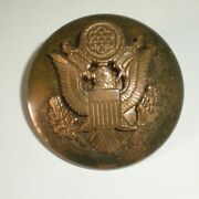 Wwii Us Army Air Force Eagle Badge Brass Insignia Military Hat Emblem
