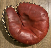 Vintage Midco Winfield C219 Leather Baseball Glove Catchers Mitt Midwest Antique