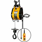 Oz Lifting 1/4 Ton Electric Wire Rope Hoist 90and039 Lift 75 Fpm 115v