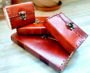 Personalized Leather Journal With Lock, Handmade Leather Notebook Assorted Size