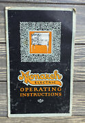 Vintage User Manual Monarch Electric Range Oven Operating Instructions