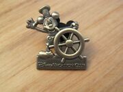 Disney Cruise Line Dcl Pin Vacation Club Pewter Mickey Mouse Steamboat Willie