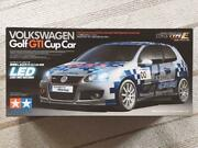Volkswagen Golf Gti Cup Car W/ Led Light Unit 1/10 Rc Plastic Model Out Of Print