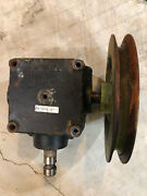 John Deere 4000-72 Mid Mow Mower Deck Gear Box And Pulley