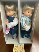 American Girl Doll Bitty Twins Blonde Boy And Girl 3b 3g Baby New In Box Retired