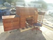 Winners Only, Inc. Roll Top Desk Set Chair And Side Cabinet