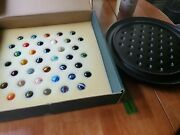 Solitaire Di Venezia Game W/ Hand Blown Art Glass Marbles Played With See Descri