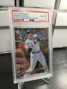 2017 Bowman Chrome Rookie Of The Year Favorite Roy Aaron Judge Gold Rookie /50