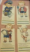 Antique Lot Of 4 Early 1900's Campbell Soup Kids Bridge Talley Cards Framed