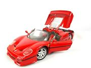 1995 Maisto Ferrari F50 124 Diecast Scale Model Car Red No 454 With Stand Base
