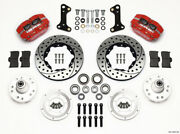 Wilwood Dynapro Dust-boot Front Kit 11.00in Drilled Red 67-69 Camaro 64-72 Nova