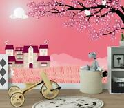3d Pink Lawn Cherry G3593 Wallpaper Wall Murals Removable Self-adhesive Honey